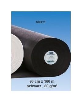 E-ZEE PES Soft 80g noir 100mx90cm