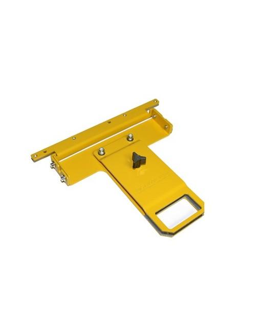 CADRE CHAUSSURE JAUNE 60mm x 30mm dimensions intérieures (SM. SHOE CLAM 2.75'' x 1.5'' (W/BRACKET)
